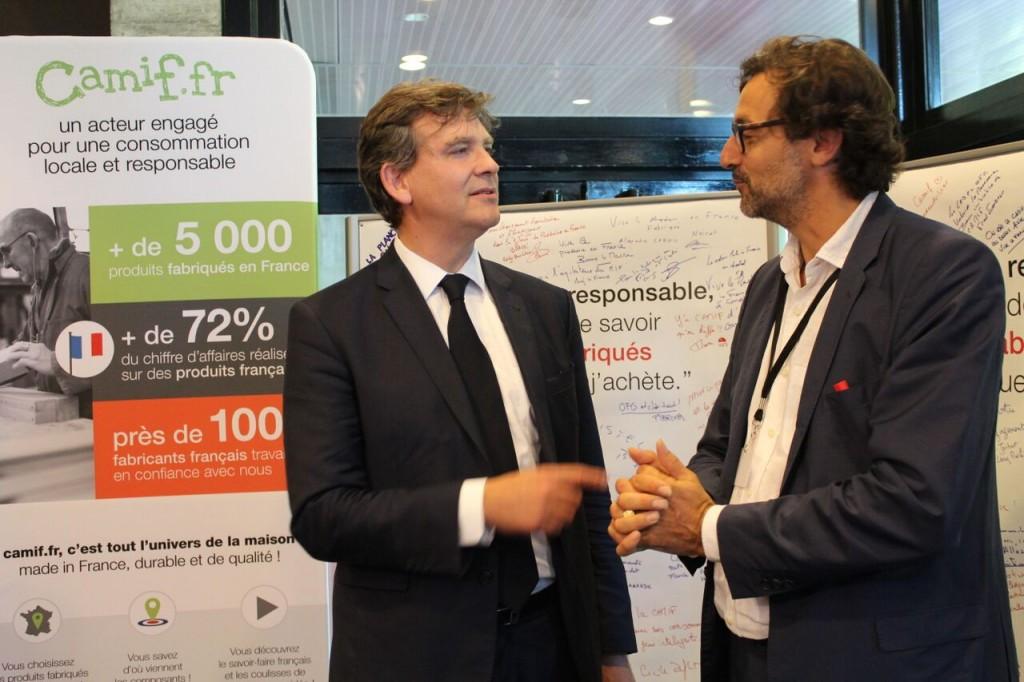 Arnaud Montebourg et Emery Jacquillat aux Assises du Produire en France